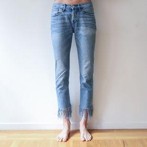 3.1 Phillip Lim Fringed Hem Jeans
